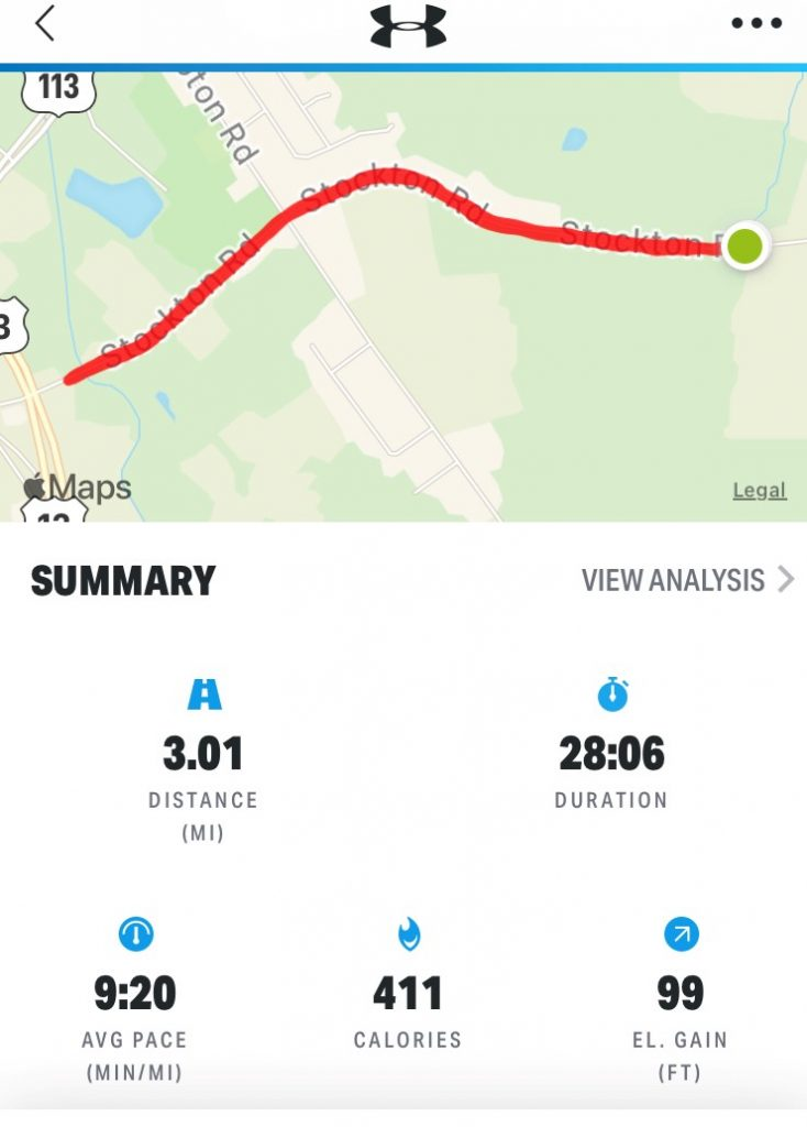 3 Miles A Day for 30 Days – Day 6 - Running Course