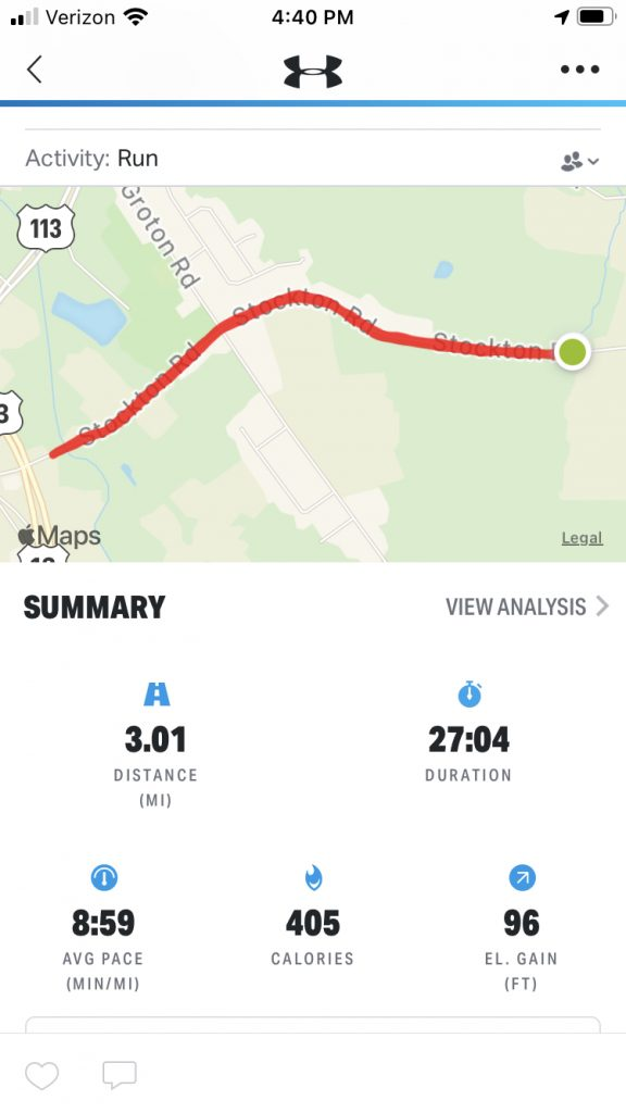3 Miles A Day for 30 Days – Day 9 - Run Course