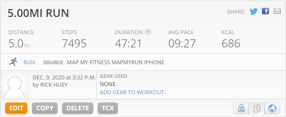 run everyday results in better times