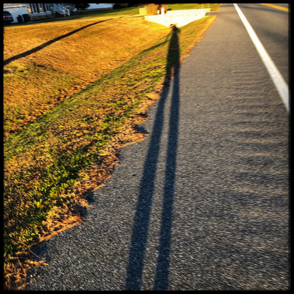 long shadows running